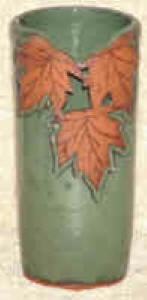 Maple Leaf Design ----- Green Glaze