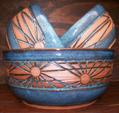 Mixing bowl set made by JT Pottery